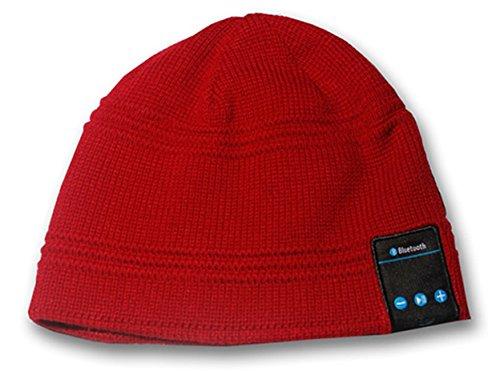 SportXtreme Cappello Parlante con Auricolari, Microfono e Bluetooth Integrati per Ascolto Musicale e Risposta alle Chiamate Smartphone, Lavorazione a Maglia, Compatibile IOS e Android, Batteria Ricaricabile agli Ioni di Litio 3.7V / 120mAh, 100% Acrilico, Rosso