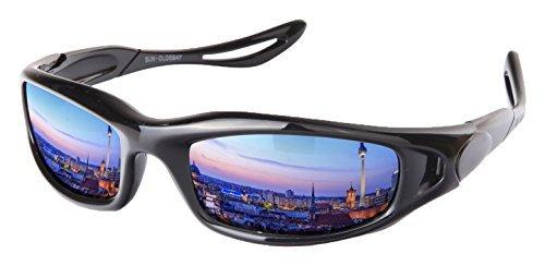 Matrix Sport Sonnenbrille Radbrille Spiegelbrille Brille (Black Matrix)