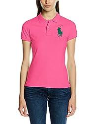 Polo Ralph Lauren Damen Poloshirt BPP SS KNT, Rosa (Active PINK BABAS), 38 (Herstellergröße: M)