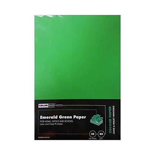 Farbe Boden 80gsm Papier–Smaragdgrün (25Stück)