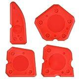 4 Stücke Silikon Caulking Werkzeug Kit Silikon Dichtstoff Dichtungen für Dichtungsmasse Silikon Dicht (Rot)