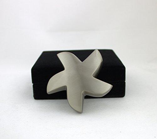 Piccolo, modello a forma di stella argento mini urna per ceneri cremazione Memorial e (Sterling Argento Urna)