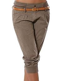 ShallGood Donna Casuale Pantaloncini Estivi Basic 3 4 Leggings Pinocchietto  Sport Fitness Dance Capri Vintage e2218a7899e5