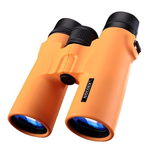 NOCOEX® 8X42 HD Fernglas - Militär Teleskop Jagd und Reisen Binoculars - Compact Folding Größe - hoher freier Große Vision - orange