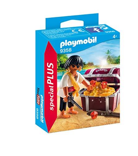 Playmobil- Pirata con Cofre del Tesoro Juguete, (geobra Brandstätter 9358)