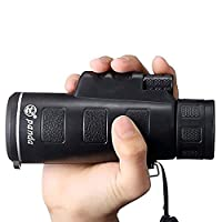 FELiCONŽ Pocket Size Monocular 40x60 Zoom Monoculars Telescope HD Dual Focus Optical Prism Monocular Portable Telescope with Clean Cloth for BirdWatching Traveling Outdoor SightSeeing Sport watching Climbing