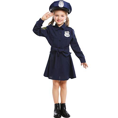 NiQiShangMao Police Officer Cops Kostüm für Erwachsene Frauen Männer Teen Mädchen Polizist Uniform Halloween Karneval Karneval Party Kleid