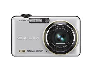 Casio EXILIM EX-FC100 WE Highspeed Digitalkamera (9 Megapixel, 5-fach opt. Zoom, 6,9 cm (2,7 Zoll) Display, mechan. Bildstabilisator) weiss