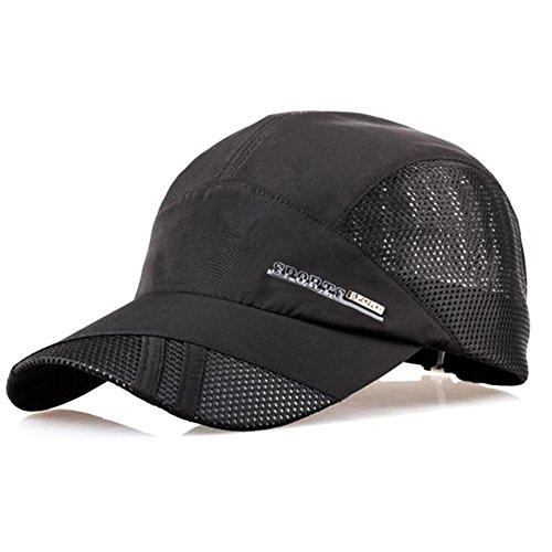 Pinzhi Unisex Verano Gorra de Béisbol Visera para el Sol Deporte Golf Tenis (negro)