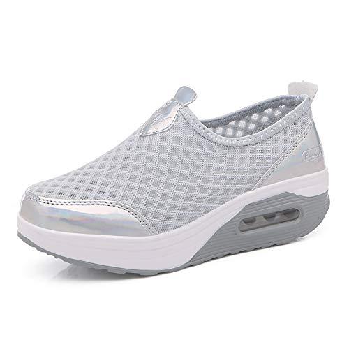 Donna Scarpe da Ginnastica Sportive Sneakers Dimensione 35-42eu Running Basse Basket Sport Outdoor Fitness Mesh Scarpe da Corsa Scarpe da Barca Mesh Scarpe da Camminata Donna Mocassini Zeppa