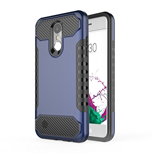 LG G6 Coque,EVERGREENBUYING Slim Fit double couche de protection LG H872 Cases Housse Etui Premium Hard Shell Back Coque Case Pour LG G6 (2017) Argent&Gris Bleu&Noir