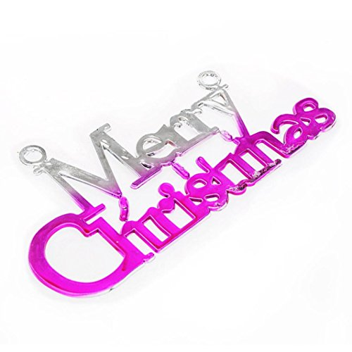 Baum Dekoration Glänzend Fröhliche Weihnachten Briefkarte Hängendes Ornament (Lila) ()
