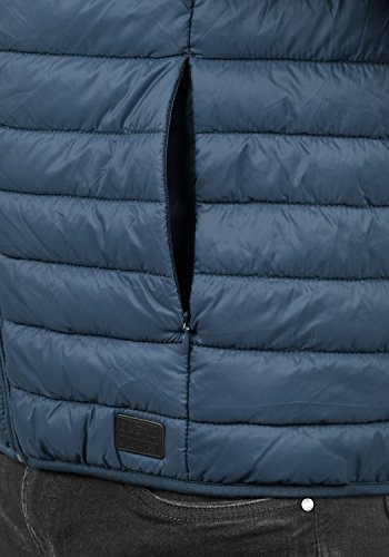 BLEND Nille Herren Steppweste mit hochabschließendem Kragen aus hochwertiger Materialqualität Ensign Blue (70260)