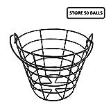 Kofull Métal Golf Panier durable Balle de golf à nourriture Golf Accessoires 1pièces en sac, store 50pcs balls...