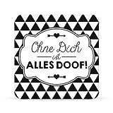 Sheepworld, Gruss & Co - 44631 - Untersetzer Nr. C9, Ohne Dich ist alles doof!, Kork, 9,5cm x 9,5cm