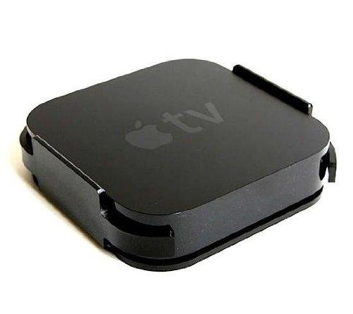 Premium TV Wall mount per Apple 2/3 scatole box TV nero nel colore + raccordi