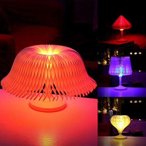 Colorful Mushroom Led Night Light Press Down Touch Room Desk Bedside Lamp For Mommy Lactation Baby Kids Christmas Holiday Gifts Elegant And Sturdy Package Led Lamps