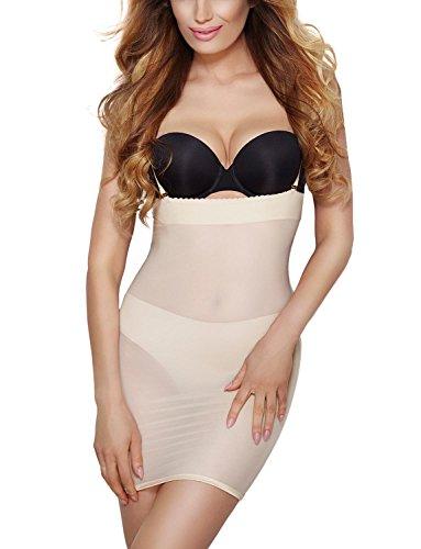 Mitex Dame Shapewear Unterkleid Regulierbar Unterwäsche Softly Dress, Beige,3XL