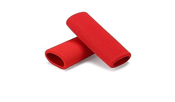 C-FUNN Motorcycle Handlebar Grip Cover Slip-on Foam Anti Vibration Comfort Red Universal