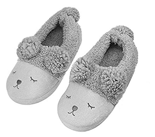 Unisex Soft Plush Slippers Cute Comfy Winter Warm House Slippers 3D Sheep Design Ankle Boots Thermal Thicken Lining Slippers Full Feet Anti-Slip Shoses Indoor Home Bedroom Slippers