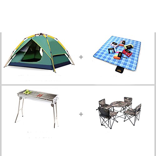 3-4 people outdoor tent camping equipment automatic 2 Double Family tent camping Beach Set