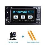 ZLTOOPAI Android 9.0 Autoradio pour VW Volkswagen Touareg T5 Transporteur Double Din Voiture Stéréo Lecteur DVD GPS avec Sortie RCA WiFi OBD SWC