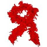 HAAC Federboa Feder Boa Farbe Rot 180 cm für Fasching Karneval Party