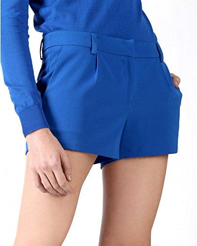 SilvianHeach Donna Shorts Villani Pantaloncini Hot Pants Casual Blu L