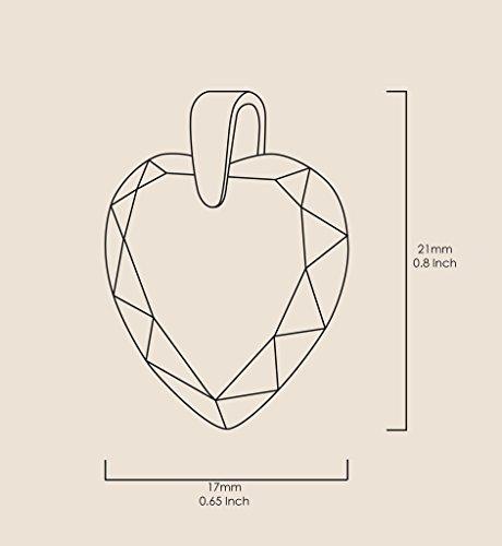 Pendentif Coeur - Bijoux Romantique Plaqué Or avec I Love You to The Moon and Back inscrit à l'Or 24ct sur un Zircon Cubique en Forme de Coeur, Chaine en Or Laminé de 45cm - Bijoux Nano Transparent