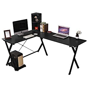 Soges bureau d 39 angle ordinateur bureau informatique table Bureau d angle ordinateur