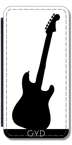 Leder Flip Case Tasche Hülle für Apple iPhone 6/6S - Gitarre Silhouette by loki1982 Lederoptik