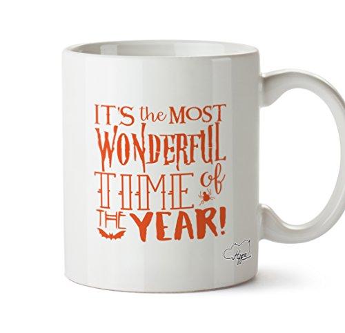 hippowarehouse Most Wonderful Time Of The Year 283,5Tasse, keramik, weiß, One Size (10oz)