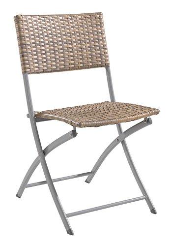 Nicht Zutreffend Gartenstuhl Metallstuhl Klappstuhl ARVID   Braun   Kunststoff   Stahl   Klappbar (Kunststoff-stahl-klappstuhl)