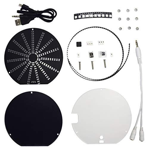 Preisvergleich Produktbild VvXx LED-Audio-Visualisierer,  rund,  Musikspektrum,  DIY,  Kit Elektronisches Lernset