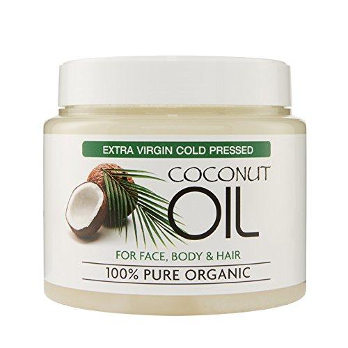 Extra Virgin Coconut Oil 100{45775240b91b2a71b4fb2acc2ab2ee5dab4fd047f5805c4b885b90c2e21ec039} Bio – Für Haut- und Körperpflege, Feuchtigkeitspflege für alle Hauttypen, reduziert Alterserscheinungen wie Fältchen und Augenringe, 500ml