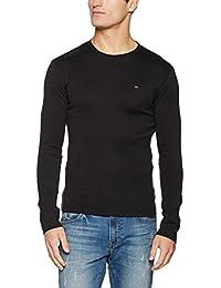 Hilfiger Denim Original 1x1 Rib Cn Knit L/s - T-shirt - Homme