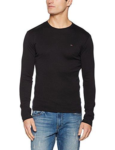 hilfiger-denim-mens-original-rib-long-sleeve-t-shirt-tommy-black-xx-large