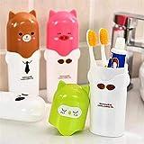 SHOPPOWORLD Plastic Travel Toothpaste Toothbrush Holder Portable Plastic Cartoon Animal Toothbrush Cup Storage Box Holder (1)