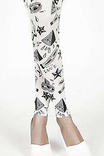 Superology Damen Formende Leggings Symbols Bianco