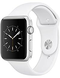 Apple Watch Series 1, 42 mm, GPS, Aluminium Gehäuse, Silber mit Sport-Armband, Weiß, 2016