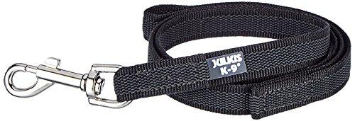 Artikelbild: JULIUS-K9, 216GM-S1 Color & Gray gumierte Leine, 20 mm x 1 m mit Schlaufe, maximal für 50 kg Hunde, schwarz-grau