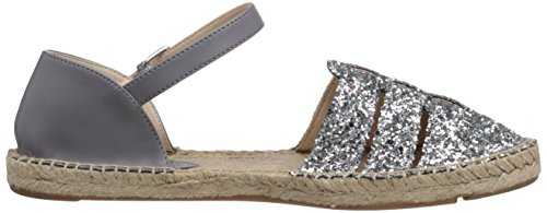 Nine West Intome Toile Espadrille Silv-Gry