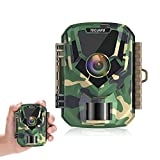 TOGUARD Telecamere da Daccia Impermeabili per Fotocamere di 12 MP con Visione Notturna 120°Rilevamento Della Camma di Caccia per la Fauna Selvatica Attivato con Movimento a 120°