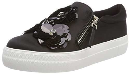 Buffalo Damen 515-7492-2 Satin Slip On Sneaker, Schwarz (Black 01), 41 EU