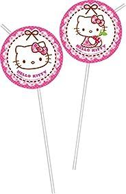 Procos Hello Kitty 6 Medallion Flexi Drinking Straws - Multi Color, 81798