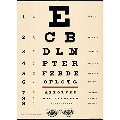 Cavallini & Co. Eye Exam Chart Decorative Decoupage Poster Wrapping Paper Sheet
