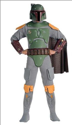 Star Wars Deluxe Kinder Kostüm Boba Fett Größe M 5 bis 7 (Fett Für Kostüme Kinder Boba)