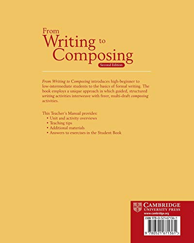 From Writing to Composing Teacher's Manual: An Introductory Composition Course for Students of English