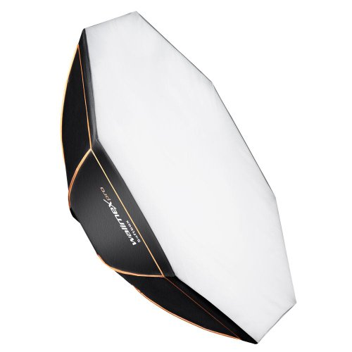 Walimex Pro Octagon Softbox Orange Line 120 cm Durchmesser (inkl. Universal-Adapter) Broncolor Adapter