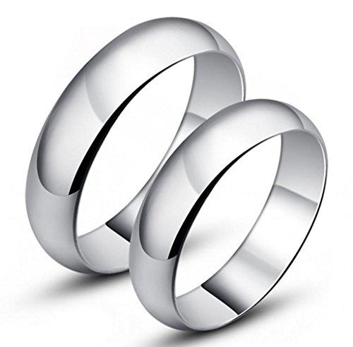 Infinite U lamour Classique Argent 925 Couples Bague R/églables Fian/çailles Taille de Bague 49 /à 64
